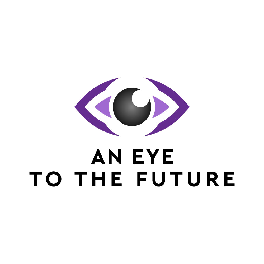 "Stylised image of an eye with the text ""an eye to the future"""